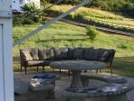 Closer picture of Patio Table and Benches