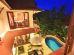 Villa & Pool Night View