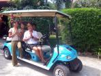 Golf Cart Beach Transfers at your Villa Doorstep