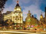 GRAN VIA , 7 MIN walking distance from cHic mAdrid cEnter.