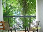 Wooded view on private balcony