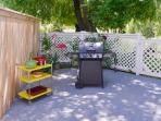 Extra side patio for grilling, sunbathing, reading, dining or just hanging out.