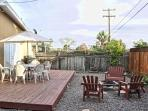 Enjoy your gorgeous private backyard with deck, BBQ and fire pit.