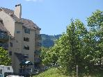 View of Killington and Mt Green building 1 in the summer