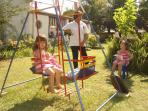 Childrens swing at Century Place B+B Newcastle