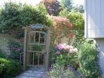 This home has lovely plantings of lavender, rhododendrons and shrubs for guests to enjoy while taking a stroll through...