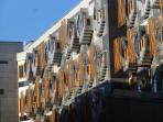A view of the Scottish Parliament building nearby