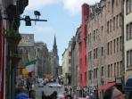 A view up the historic Royal Mile