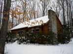 Red Run Cabin in Winter