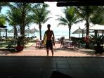 Our son, 150m away at Temple Da Nang, ready to play in the waves
