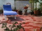 Terraza con muebles de sol