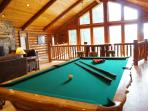 Pool Table with Pub Table in back
