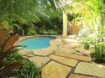 pool with H/C shower and dressingroom