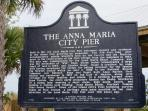 Historic City Pier stretches out into Tampa Bay from a delightful town park entrance way