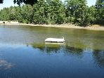 Private float in the cove...perfect for a swim!