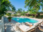 Some guests never want to abandon the idyllic, lazy environment of the palm-fringed pool ...