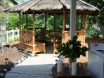 Gazebo and outdoor dining