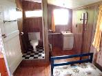 Bunkie bedroom/half-bath