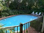 Large, fenced pool. Weekly maintenance by professionals.