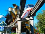 The iconic monorail (5min walk from apartment) takes you to the Space Needle & EMP in Seattle Center