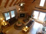 Rustic Furniture and Stone Fireplace