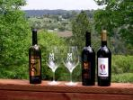 enjoy local wines on your private deck