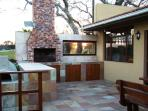 Barbecue Patio and seating area