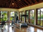 ... and Whispering Water's own well-equipped fitness room.