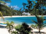 The beautiful crescent-shaped Half Moon beach is also complimentary for guests.