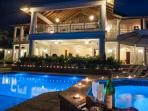 Come for the pure luxury of idle hours in the hot tub, and memorable meals on the balcony ...