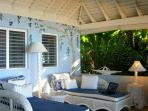 ... and to its own private porch where a pair of chaises are irresistible for solitude, napping or laptop time.  My...