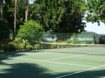 These sister villas share the tennis court.  Both homes provide racquets and balls.  (Note:  Today, the court is...