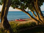 Also for active guests, 2 sea kayaks are complimentary. Life vests for kids and adults provided.