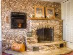 Kitchen fireplace wall