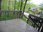 Side deck with lake/mt views