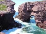 Magnificent Arch Hole in Tickle Cove