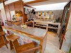 Well designed kitchen space with beautiful interior and all mod cons