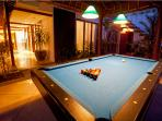 Anyone for pool? A games bale greets you as your enter Villa Jasmine