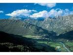 Kobarid surrounded by the Julian Alps