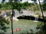 This is a waterfall in Pazin, 10 km from Villa Oliva. The local people call it 'Zarecki krov'.