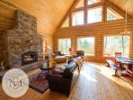 The Great Room with gas fireplace.