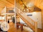 Aloha Mountain Hale is a handcrafted Log Home.