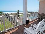 Oceanfront view off the first floor balcony