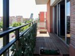 Get some fresh air or enjoy the views over sunny Madrid, you can see Plaza Castilla from the terrace