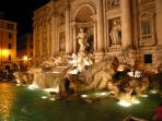 Trevi fountain - 10min walking.