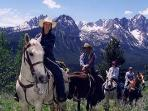 Late Spring Horse Back Riding In The San Juan Mountains above Pagosa Springs
