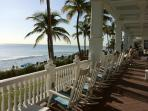Relax in the rocking chairs on our veranda