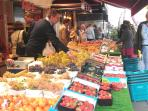 Fresh fruits market at rue Cler