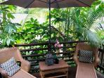 Private oceanview deck