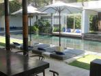 Dining arae over looking Pool